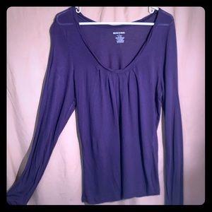 Size large sheer T-shirt plumb color NWOT